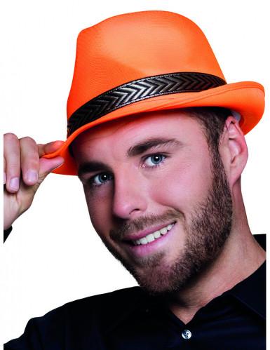 Fluo oranje deukhoed voor volwassenen