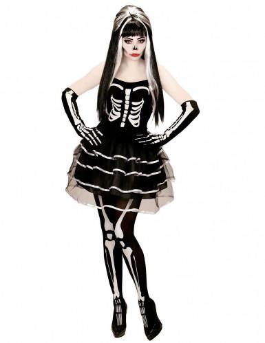 Skelet tutu kostuum voor vrouwen