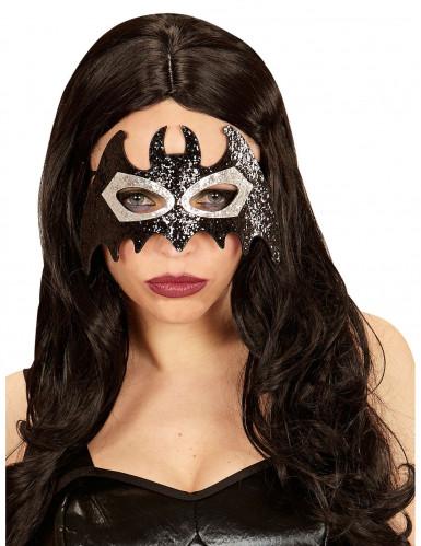 Miss Glitter vleermuis oogmasker voor volwassenen