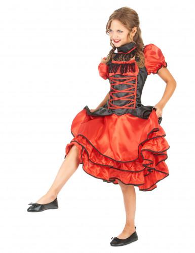 Rood en zwart cabaret kostuum voor meisjes-1