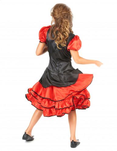 Rood en zwart cabaret kostuum voor meisjes-2