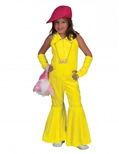 Fluo geel discokostuum voor meisjes