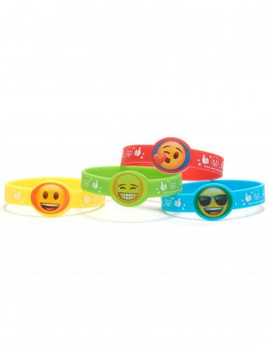 4 rubberen Emoji armbandjes