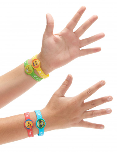 4 rubberen Emoji armbandjes-1