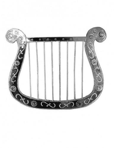 Kleine zilverkleurige harp