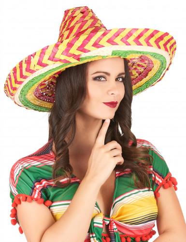 Tutti Frutti Mexicaanse sombrero voor volwassenen-2