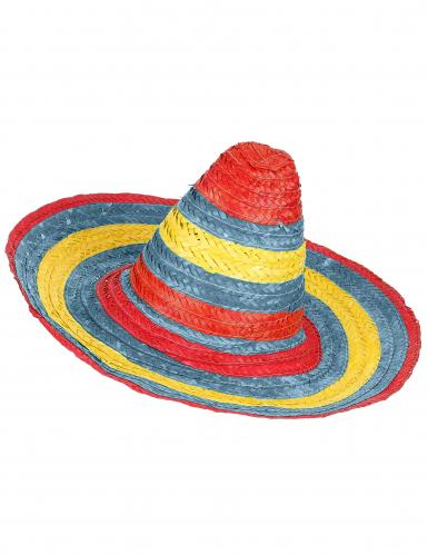 Rood groen gele Mexicaanse sombrero voor volwassenen