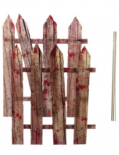 2 bloederige hek decoraties