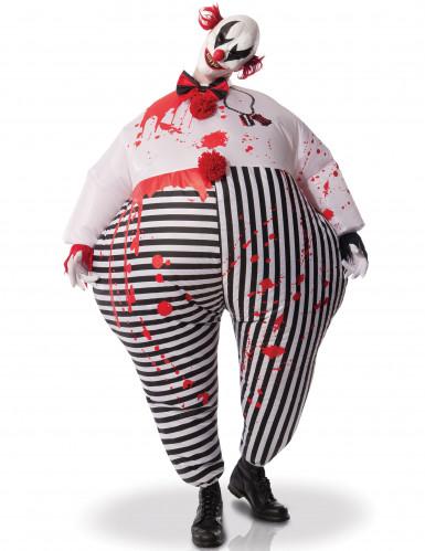 Opblaasbare clown uit de hel kostuum voor volwassenen