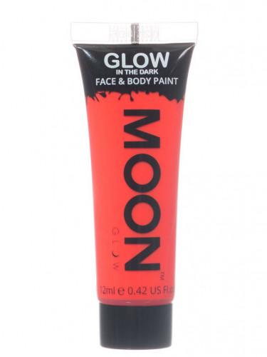 Fluo rode fosforescerende gel voor lichaam en gezicht
