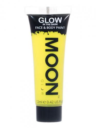 Fosforescerende fluo gele gel voor lichaam en gezicht