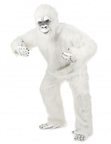 Luxe witte Yeti kostuum voor volwassenen-1