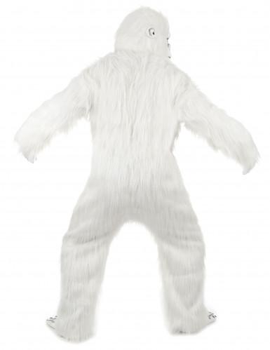 Luxe witte Yeti kostuum voor volwassenen-2