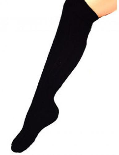 Lange zwarte sokken voor volwassenen
