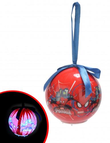 Lichtgevende Spiderman™ kerstbal 7.5 cm
