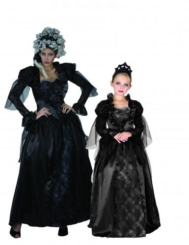 Gothic gravin koppelkostuum voor moeder en dochter