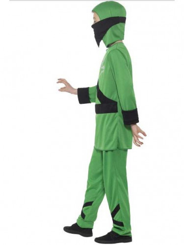 Groen ninja kostuum voor jongens-1
