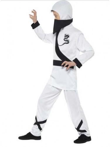 Wit ninja kostuum voor jongens-1