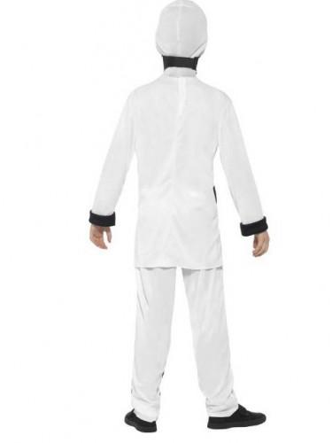 Wit ninja kostuum voor jongens-2