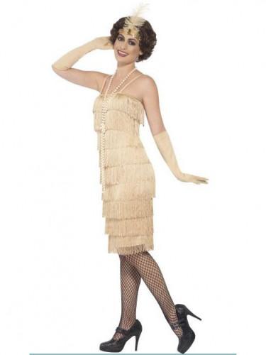 Beige charleston kostuum voor vrouwen-1