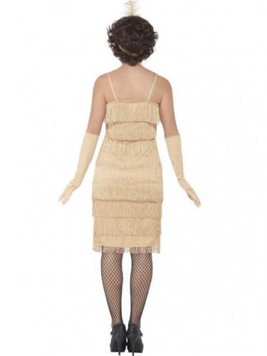 Beige charleston kostuum voor vrouwen-2