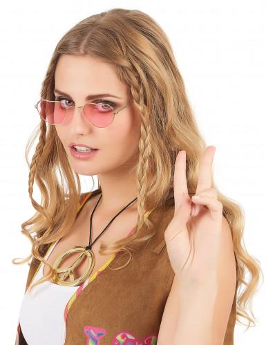 Roze hartenbril voor volwassenen-1