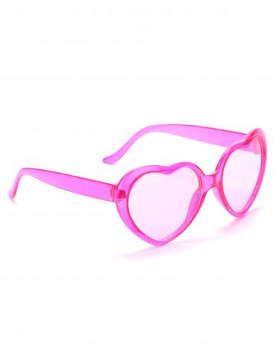 Roze harten bril voor volwassenen