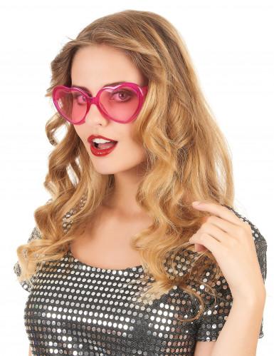 Roze harten bril voor volwassenen-1