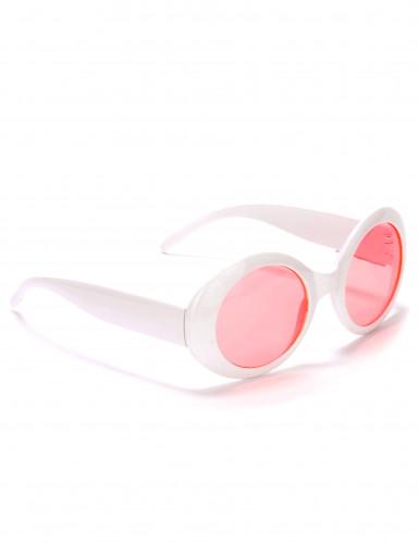 Ronde witte plastic bril voor volwassenen