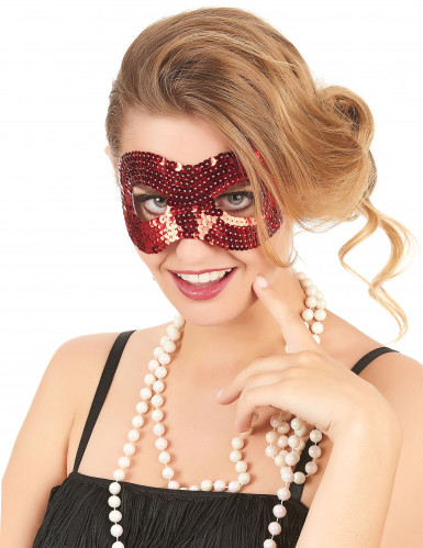 Masker met rode lovertjes voor volwassenen