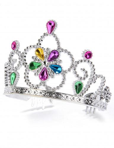 Veelkleurige prinsessen tiara voor volwassenen en kinderen