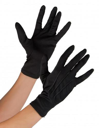 Zwarte getailleerde handschoenen voor volwassenen
