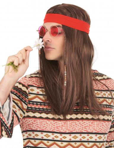 Piraat of hippie pruik voor volwassenen -1