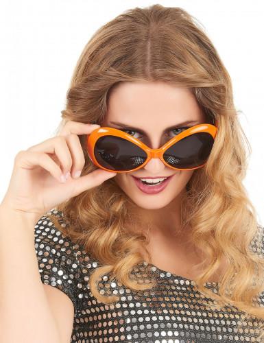 Oranje discobril voor volwassenen-1