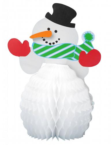 4 mini sneeuwpop versieringen-1