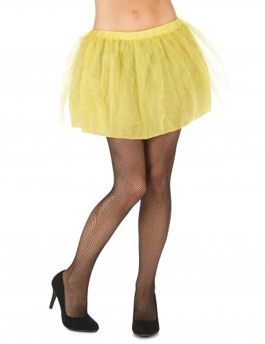 Gele tutu met ondoorzichtige onderrok voor vrouwen