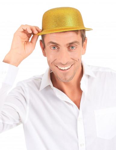 Goudkleurige glitter bolhoed voor volwassenen-2