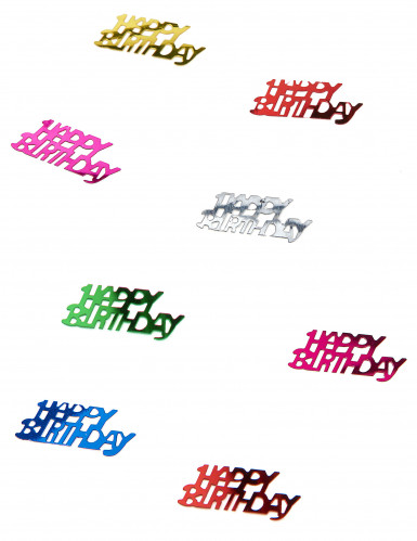 Happy birthday opschrift confetti