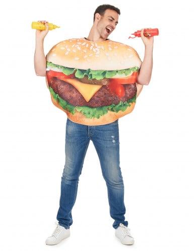 Grappig hamburger kostuum voor volwassenen