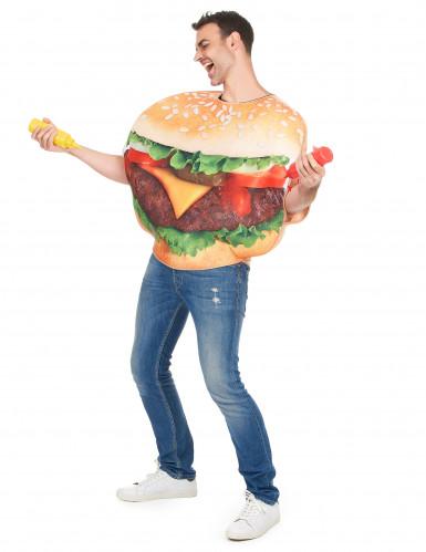 Grappig hamburger kostuum voor volwassenen-1