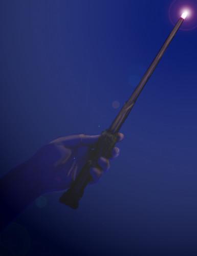 Harry Potter™ toverstaf replica met licht-1