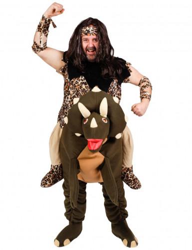 Holbewoner op dinosaurus kostuum voor volwassenen
