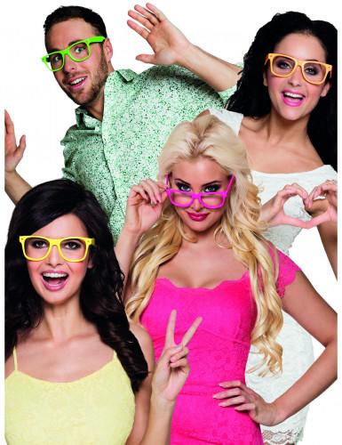 4 fluo brillen voor volwassenen