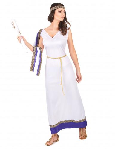 Paars Romeins kostuum voor vrouwen-1