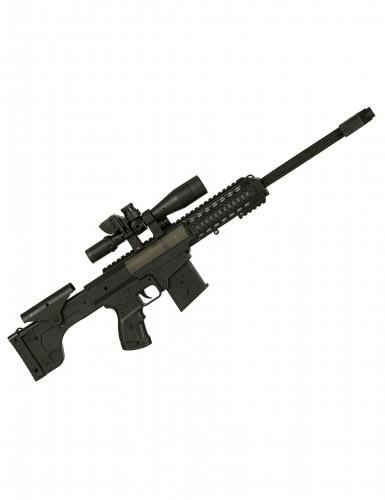 Zwart plastic geweer met geluid voor kinderen