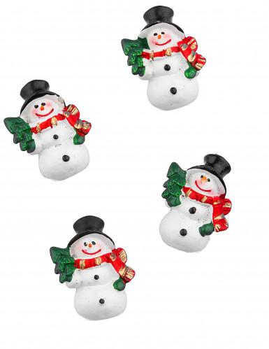 6 zelfklevende sneeuwpoppen