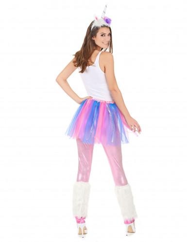Paars en roze eenhoorn kostuum voor dames-2