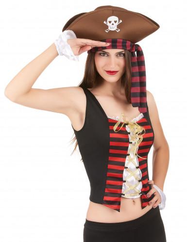 Piraten korset en armstukken voor vrouwen