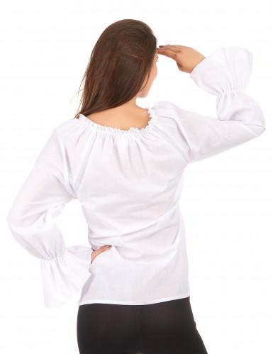 Blouse met lange witte mouwen voor vrouwen-1