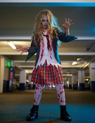 Zombie scholieren kostuum voor meisjes-3